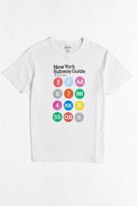 New York Subway Map Tee