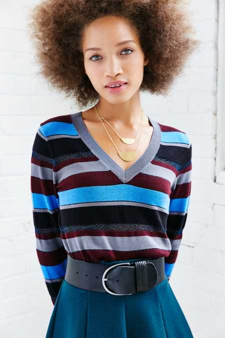Cooperative Shimmer V-Neck Sweater