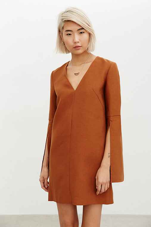 C/meo Collective Small Things Dress,BROWN,M
