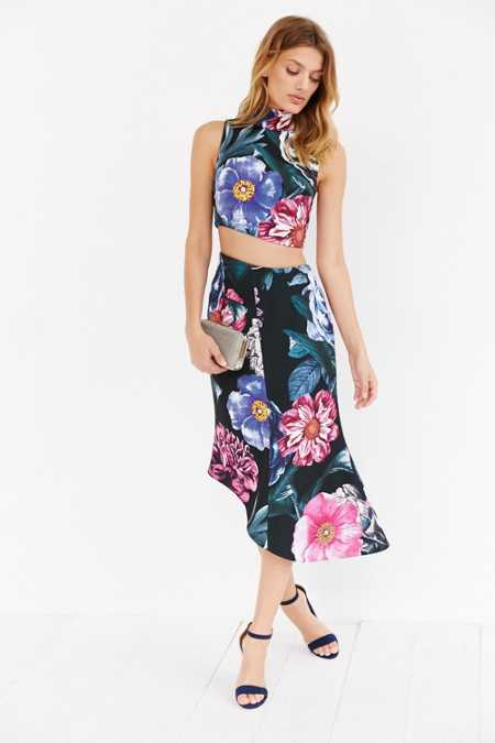 Keepsake Rip Tide Floral Midi Skirt