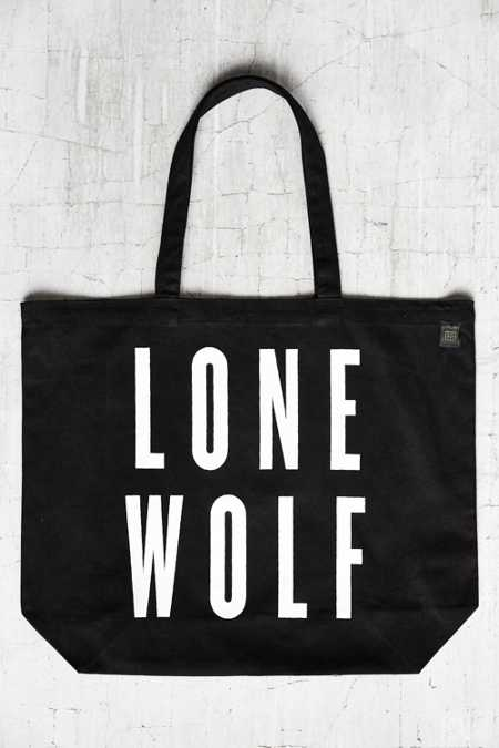 Urban Renewal Recycled Lone Wolf Tote Bag