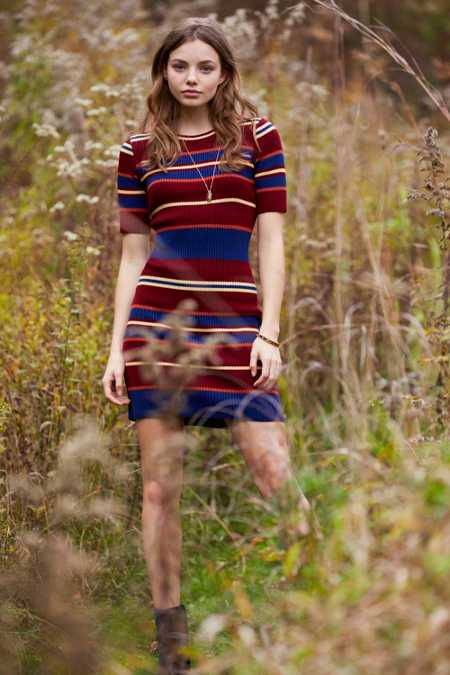 BDG Variegated Stripe Sweater Dress