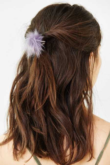 Faux Fur Pom Pony Tail Holder