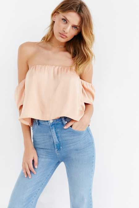 Lucca Couture Silky Off-The-Shoulder Blouse