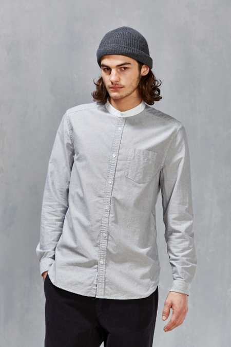 CPO Contrast Collared Oxford Button-Down Shirt