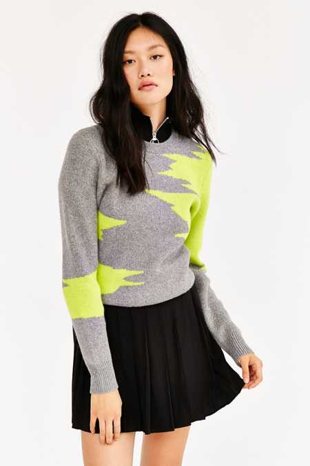 Ecote Abstract Crew Neck Sweater