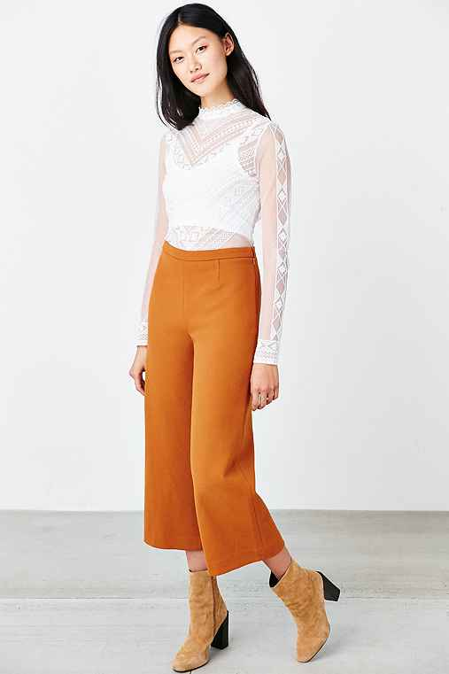 Silence + Noise Kerri Trouser,ORANGE,8