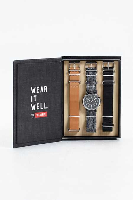 Timex Tweed Strap Weekend Watch Box Set