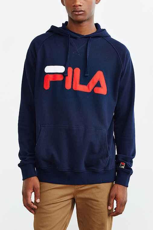 FILA Pullover Hoodie Sweatshirt,NAVY,XL