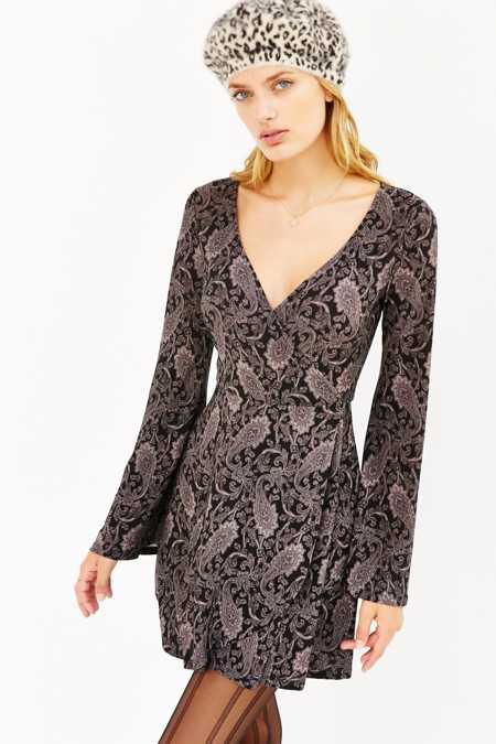 Ecote Paisley Wrap Dress