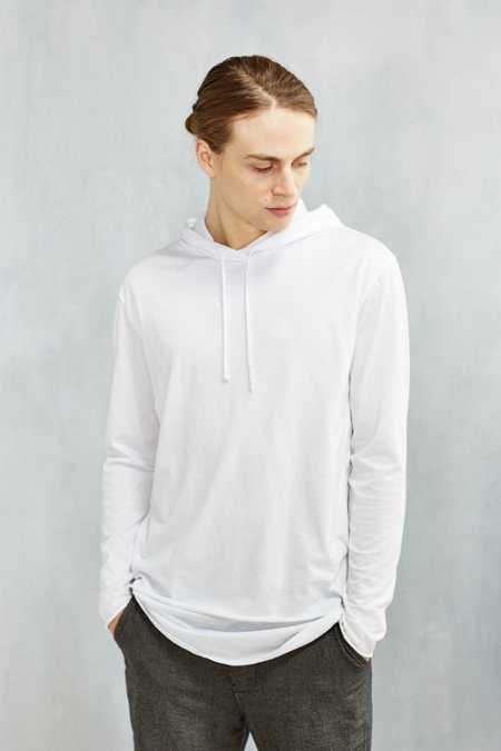 Feathers Double Layer Long-Sleeve Hooded Tee