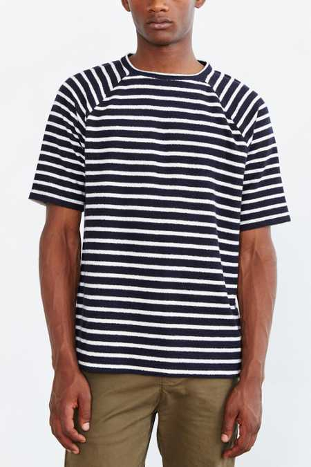 CPO Reverse Terry Striped Raglan Tee