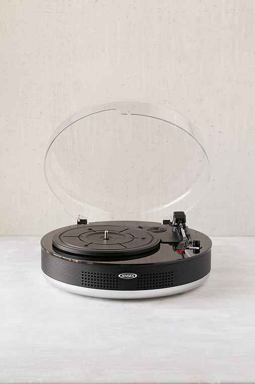 Jensen JTA-455 Bluetooth 3-Speed Stereo Turntable - Urban Outfitters