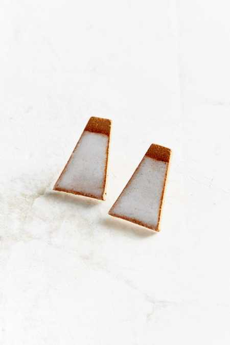 Maple + Mauve Deco Earring