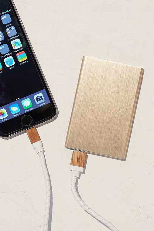 Slim Rose Gold Portable Power Charger,BLUE MULTI,ONE SIZE