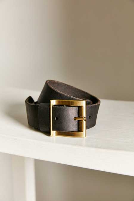Ecote Wave Buckle Leather Belt