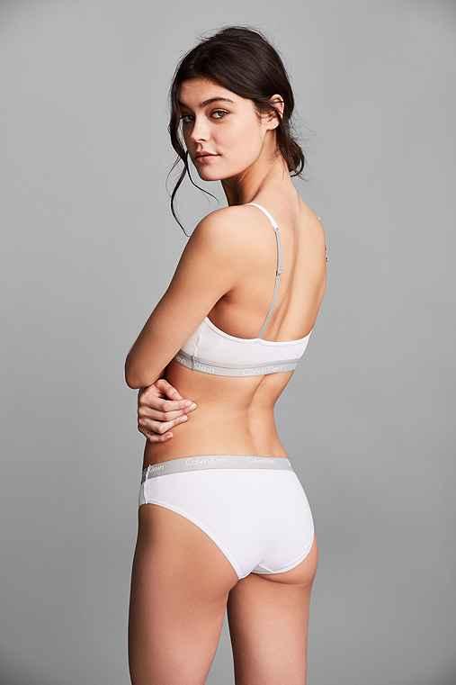 Calvin Klein One Cotton Bikini,WHITE,L