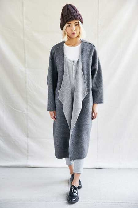 Urban Renewal Recycled Fleece Asymmetrical Coat