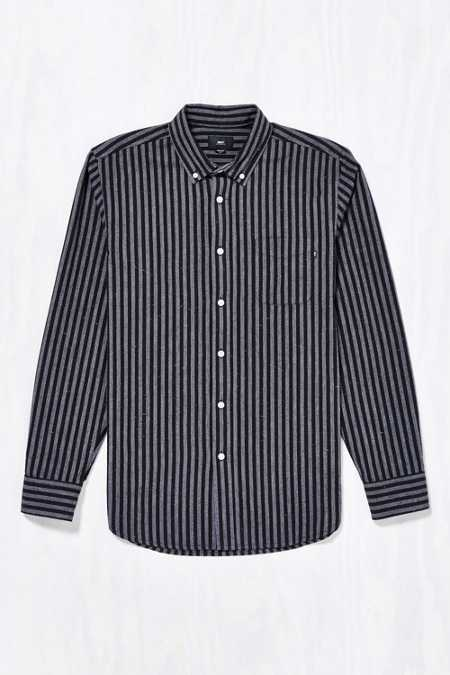 OBEY Holmes Jaspe Stripe Button-Down Shirt
