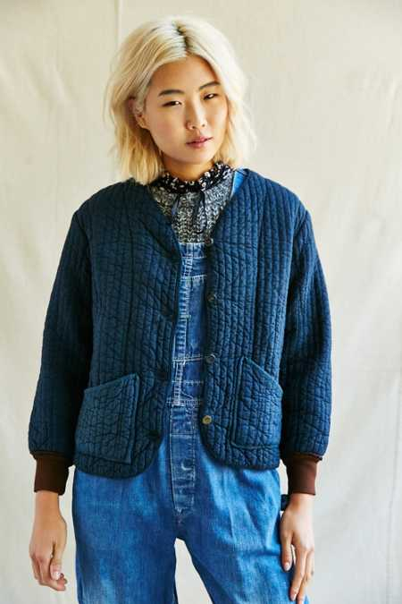 Urban Renewal Vintage Overdyed Button Front Jacket