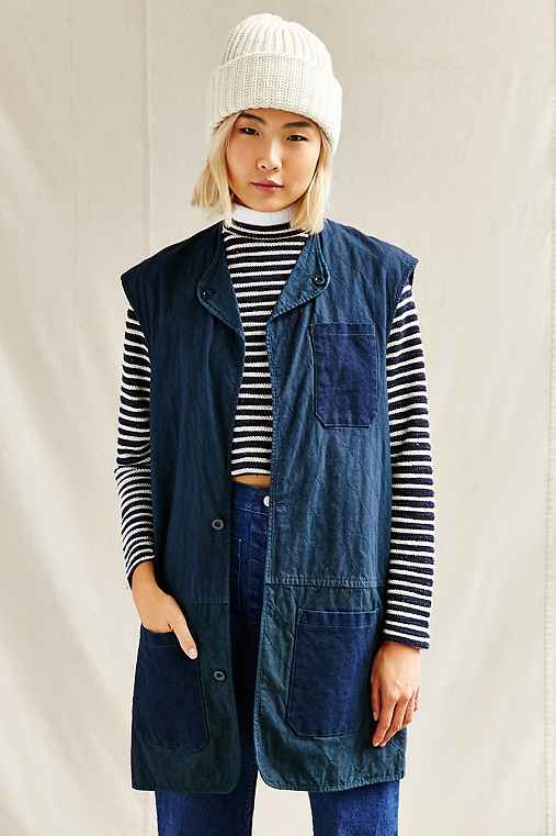 Urban Renewal Remade Patch Pocket Maxi Vest,NAVY,S/M