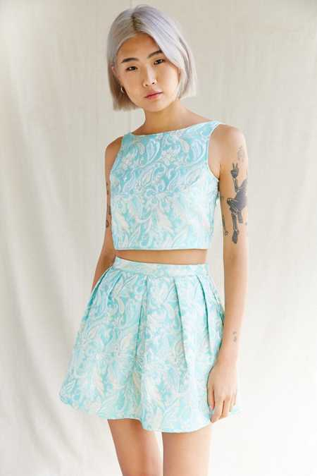 Urban Renewal Remade Brocade Mini Skirt