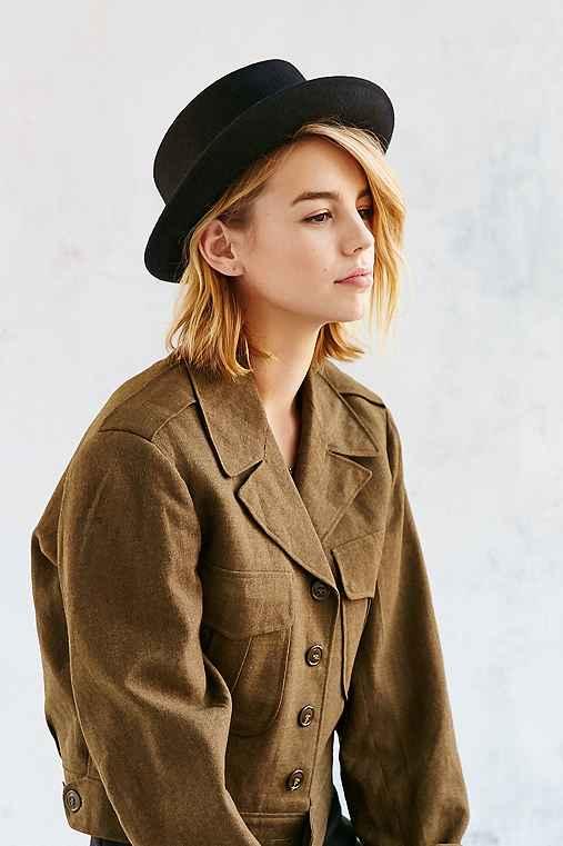 Penny Porkpie Hat,BLACK,ONE SIZE
