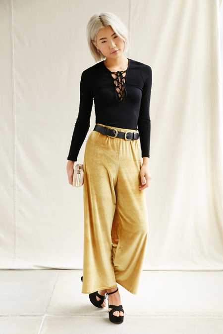 Urban Renewal Remade Wide Leg Velvet Pant