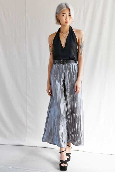 Urban Renewal Remade Wide Leg Satin Pant