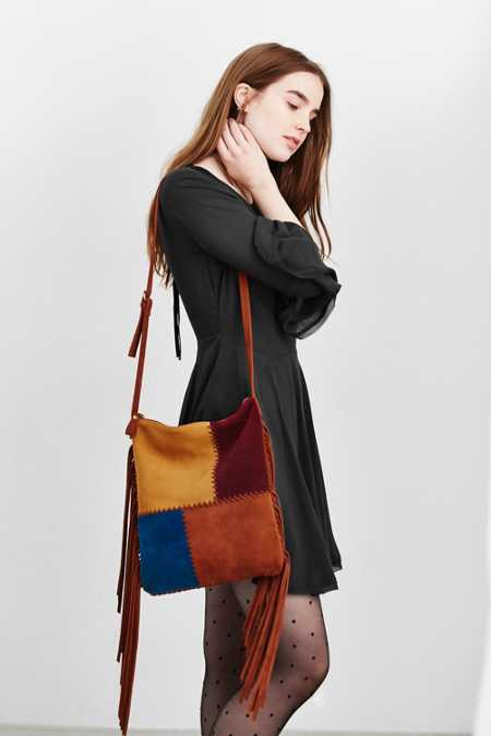Ecote Suede Fringe Day Tote Bag