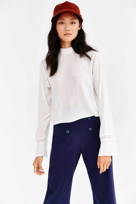 Silence + Noise Modern Mock-Neck Blouse
