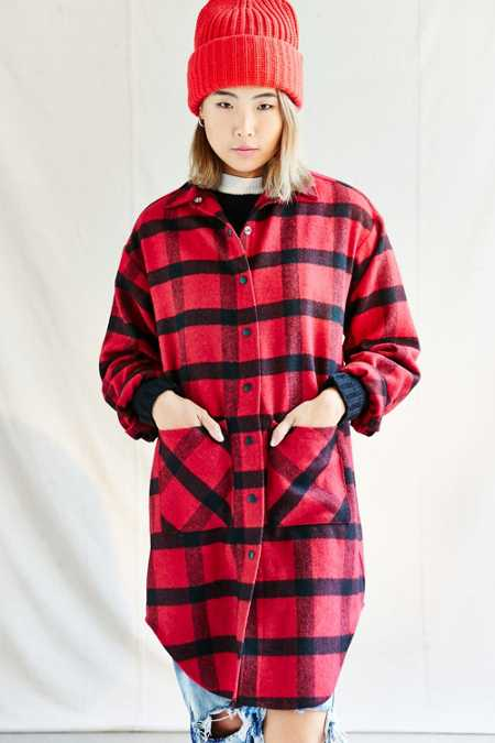 Urban Renewal Recycled Buffalo Plaid Coat
