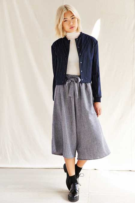 Urban Renewal Recycled Tie Front Culotte Pant