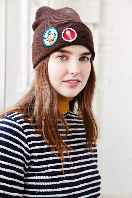 Barber X UO Camp Patch Beanie