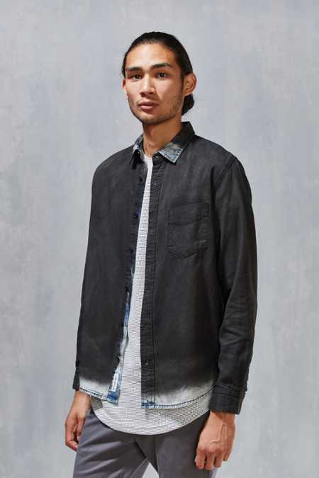 Cheap Monday Air Chalk Spray Denim Button-Down  Shirt