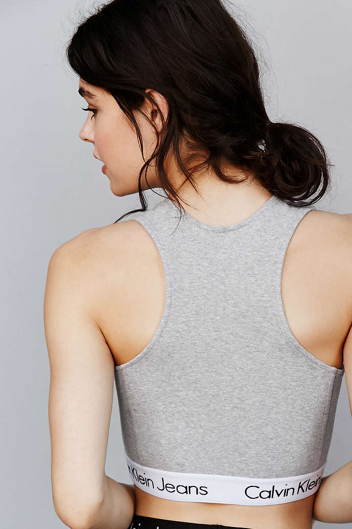 c49124f6af7 CALVIN KLEIN FOR UO HIGH NECK TANK TOP - URBAN OUTFITTERS on The Hunt