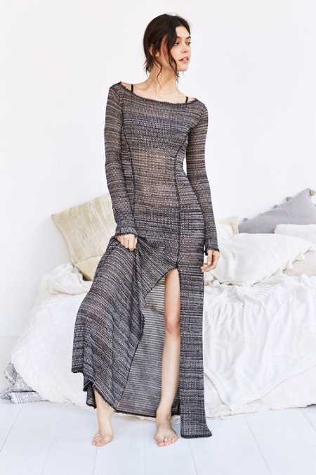 Out From Under Long Sleeve Cozy Maxi Slip Dress