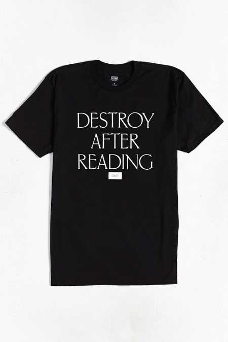 OBEY Destroy After Reading Tee