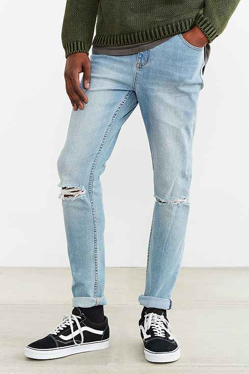 Cheap Monday Enigma Ripped Dropped Jean,VINTAGE DENIM LIGHT,34
