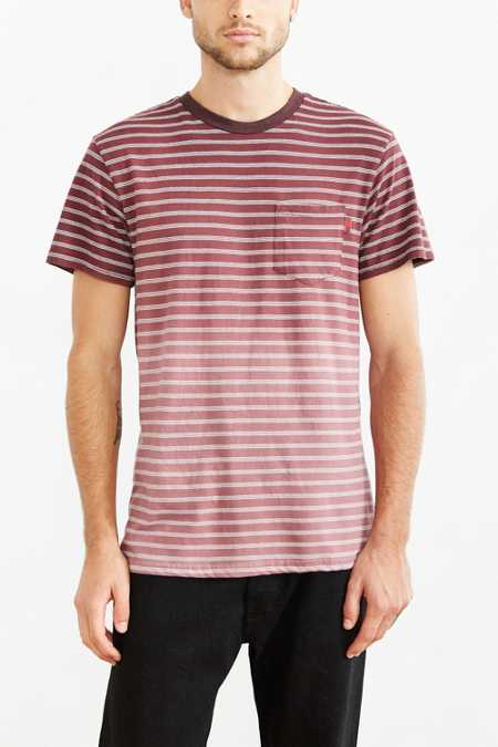 Vans Haggartys Faded Stripe Tee