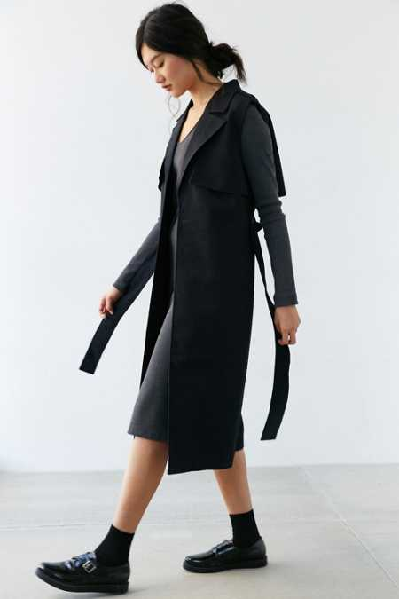 Finders Keepers Get Up Sleeveless Trench Coat