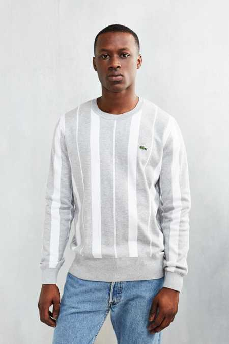 Lacoste L!ve Vertical Stripe Crew-Neck Sweatshirt