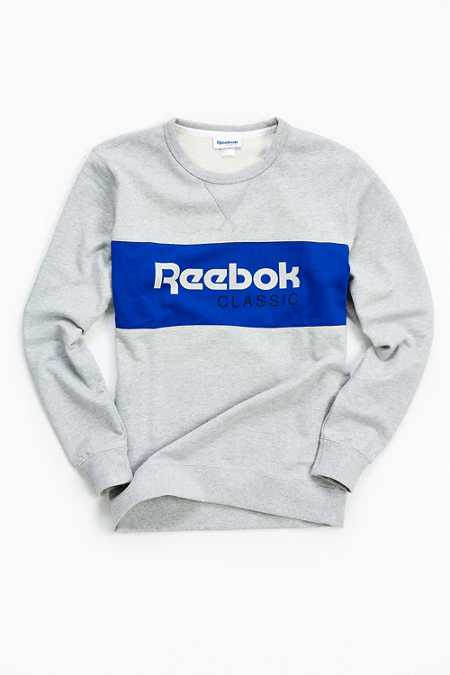 Reebok Foundations Archive Stripe Crew Neck Sweatshirt