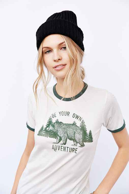 Truly Madly Deeply Bear Adventures Ringer Tee - Urban Outfitters