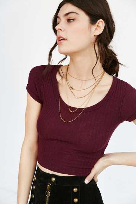 Truly Madly Deeply Cole Ribbed Cropped Top
