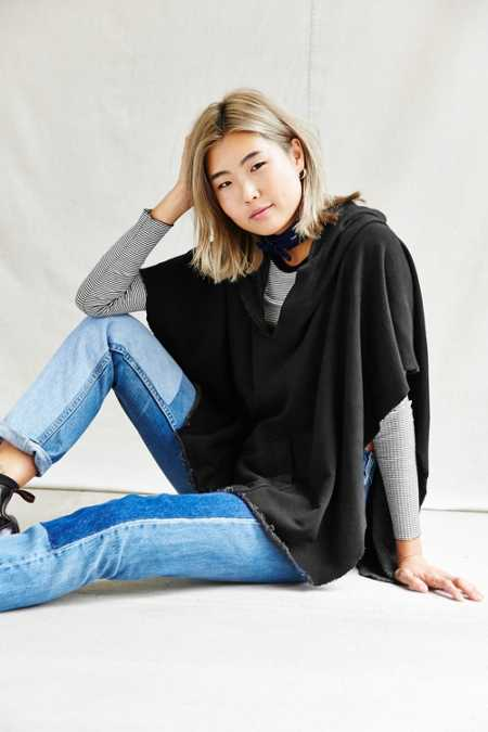 Urban Renewal Recycled Hooded Fleece Poncho