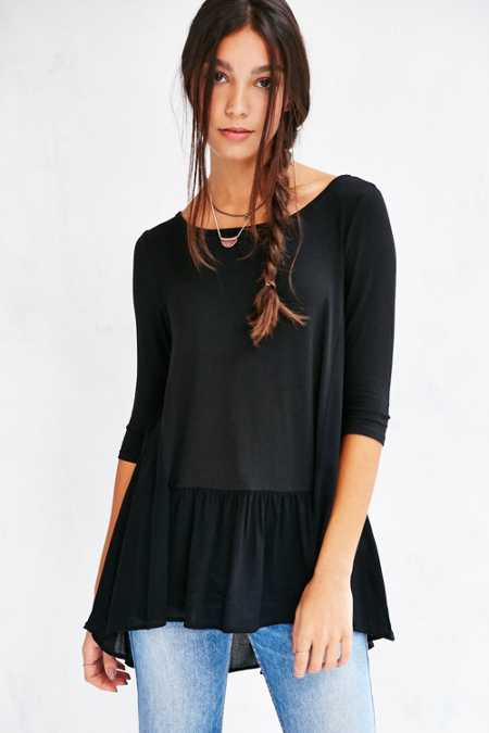 Silence + Noise Lisa Drop-Waist Tunic Top