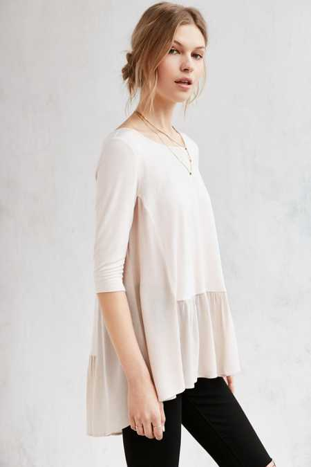 Silence + Noise Lisa Drop Waist Tunic Top