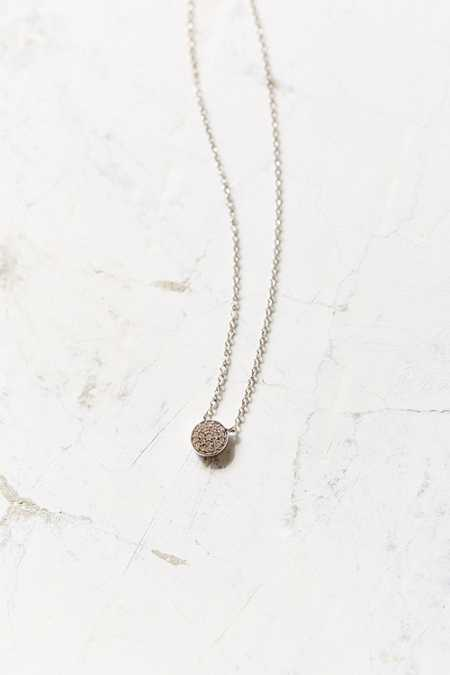 Adina Reyter Solid Pave Disc Necklace