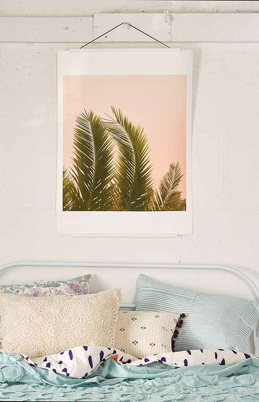 Wilder California Golden Palm Tree Art Print,NO FRAME,13X19